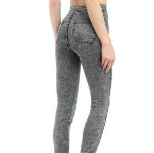 American Apparel Pants - American Apparel Grey Distressed Jeans/Leggings